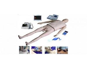 高级生命支持(ACLS)训练模拟人(气道管理、CPR、除颤起搏、血压测量、静脉穿刺五合一功能)