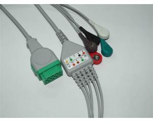 GE CAM14心电主电缆-Neusoft东软心电导联线