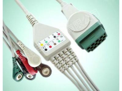 马奎(GE)一体五导心电导联线