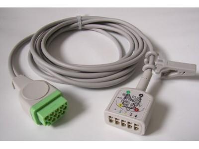 心电图五导电缆