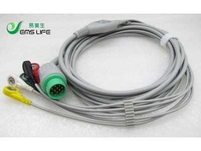 日本光电监护仪心电导联线
