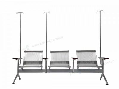 不锈钢木扶手输液椅