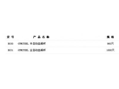 北京中勤世帝GTMSTEEL血凝仪血凝杯