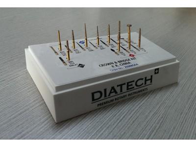"""Diatech""""金霸王""""金钢砂车针前后牙冠、桥预备套装(塑料包装)"""