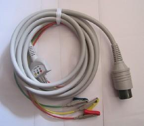 日本光电除颤监护仪7621C心电导联线(原装)