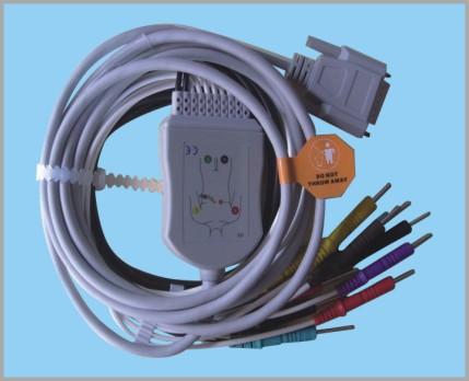 日本光电一体式心电图机12导联线
