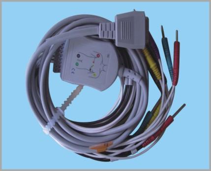 上海光电一体式心电图机12导联线