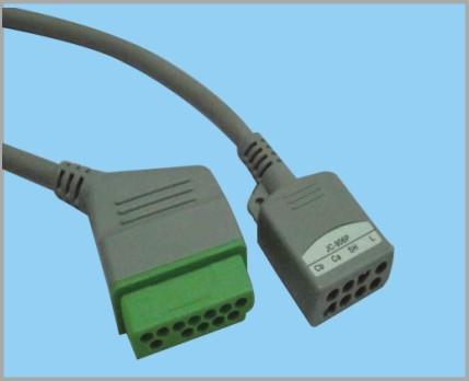 日本光电分体式监护心电5导缆线