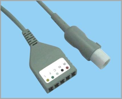 海力格分体式监护心电5导缆线