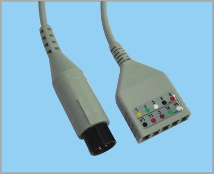 LL TYPE分体式监护心电5导缆线