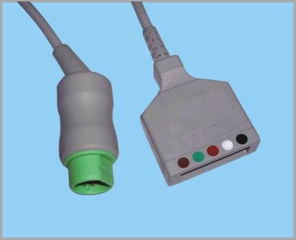 西门子分体式监护心电5导缆线