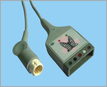 菲利普分体式监护心电5导缆线