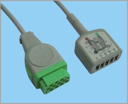 通用医疗GE分体式监护心电5导缆线