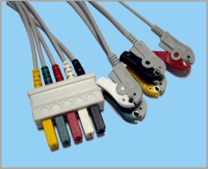 西门子分体式监护心电5联线