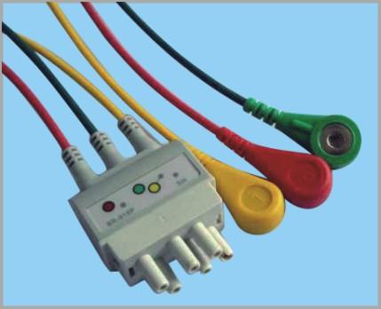 日本光电分体式监护心电3联线