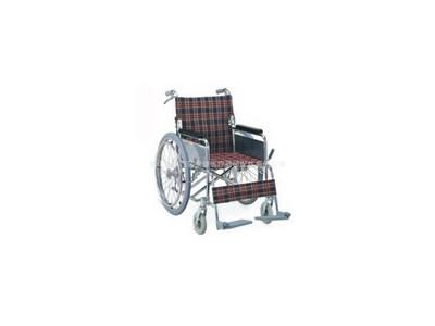 安键AJ-106 轻巧折叠可折背铝合金手动轮椅