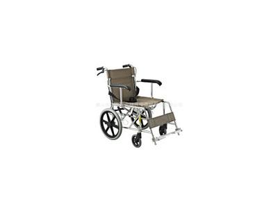 安键AJ-101 铝合金布艺手动手推轮椅