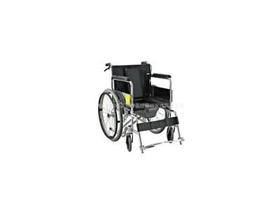 安键AJ-105 PVC座便铝合金手动手推轮椅