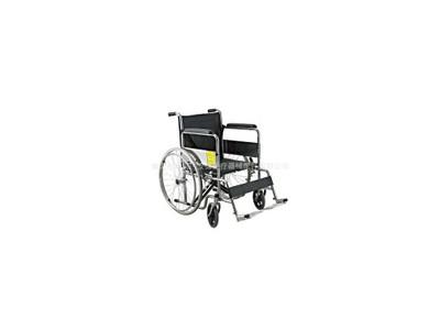 安键AJ-102B PVC座背垫铝合金手动手推轮椅