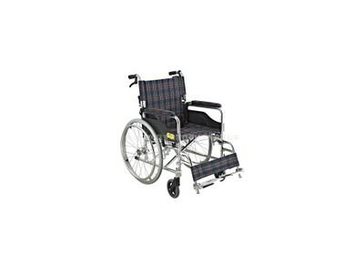 安键AJ-104 轻盈方便 可折背 加强铝合金手动手推轮椅