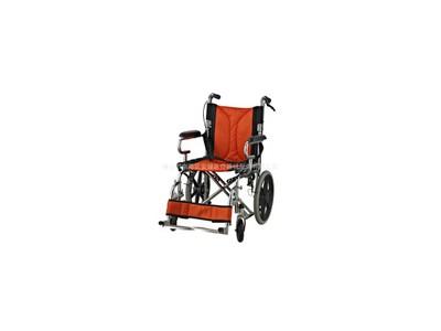 安键AJ-202 电镀可折背透气网手动手推康复轮椅