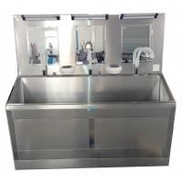 医院专用304不锈钢四人位洗手池