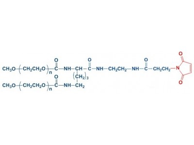 mPEG2-MAL 分枝单甲氧基聚乙二醇马来酰亚胺