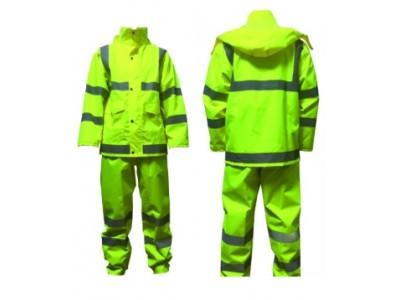 新式荧光黄反光单雨衣,新式棉雨衣,交通执勤雨衣