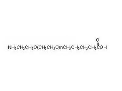 氨基PEG戊酸酯,氨基聚乙二醇戊酸酯,NH2-PEG-VA,Amine-PEG-Valeric