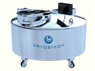 不锈钢大口径液氮生物容器/可定制