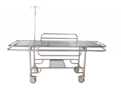北京销售医院专用全不锈钢四小轮担架车