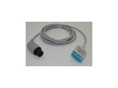 兼容PM7000/8000/mec-1000/2000 GE HP 心电导联线分体式电缆
