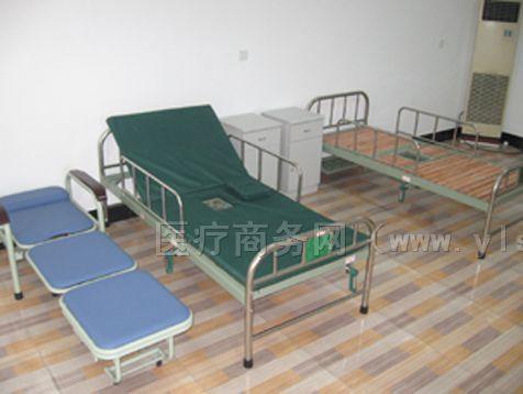 供应单摇不锈钢带便器护理床