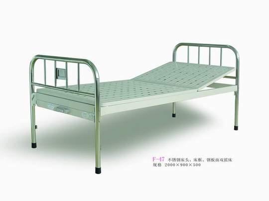 供应不锈钢床头、床框、钢板面双摇床