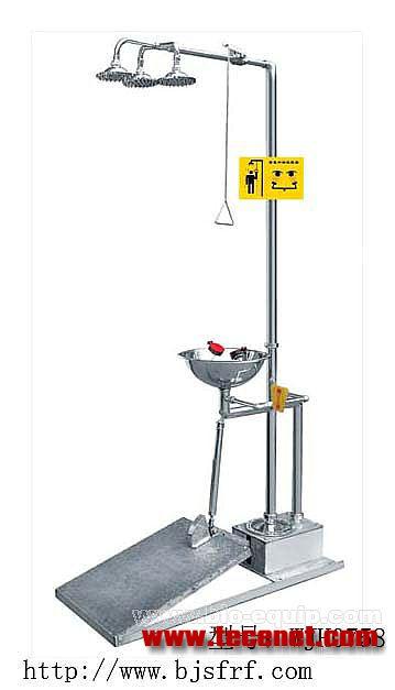 脚踏排空式紧急洗眼器(WJH0758)