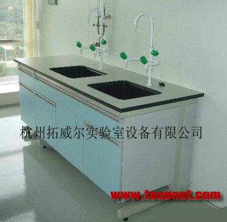 供应钢木C型水槽台、实验室水槽台