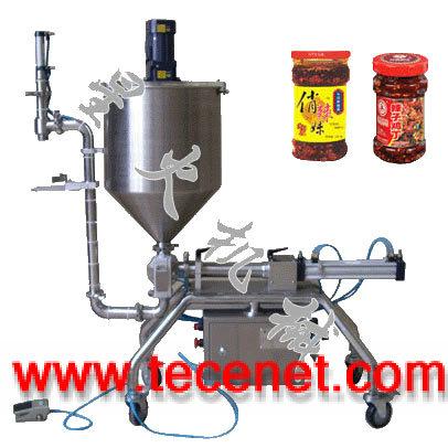 南宁牛肉酱灌装机/广西星火颗粒酱状灌装机