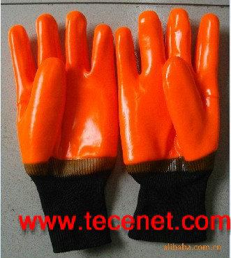 荧光pvc防寒手套