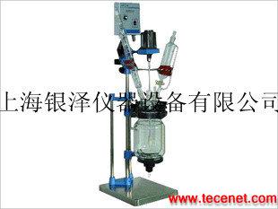 100L双层玻璃反应釜,上海双层玻璃反应釜