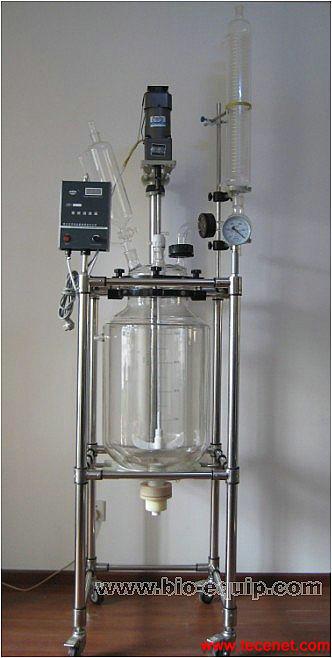 双层玻璃反应釜-20L,双层玻璃反应釜