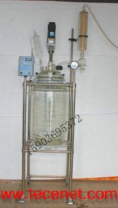 S212-10L双层玻璃反应釜/双层玻璃反应器
