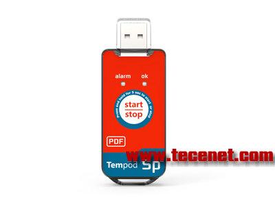 在途运输用一次性PDF温度记录仪 USB接口