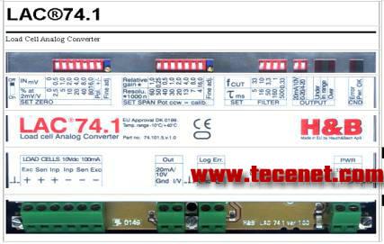 丹麦产 H&B LAC74.1 称重传感器信号变送器