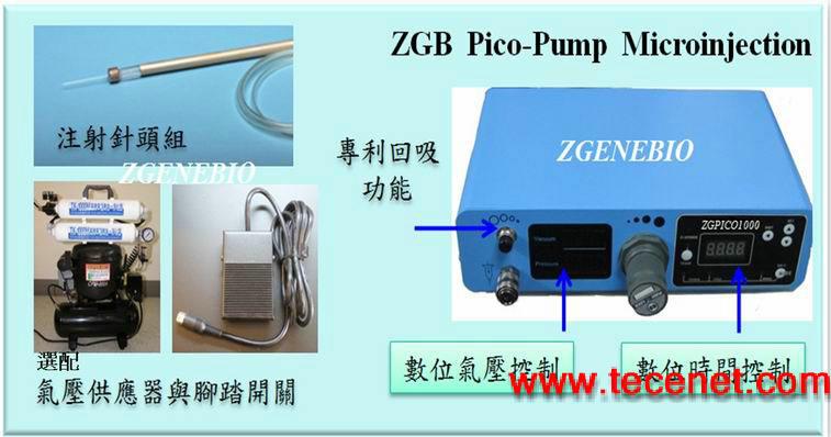 ZGENEBIO 微电脑数立气压式胚胎显微注射泵