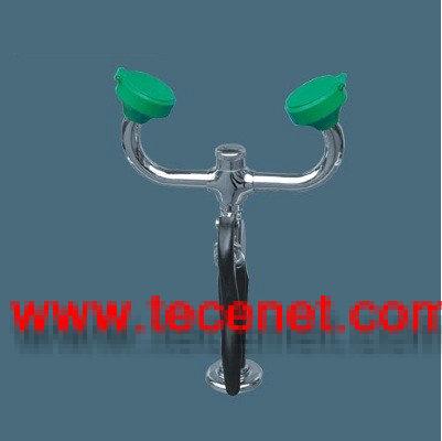绿头台式移动双口洗眼器 验厂洗眼器