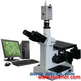 电脑三目倒置金相显微镜4XCE